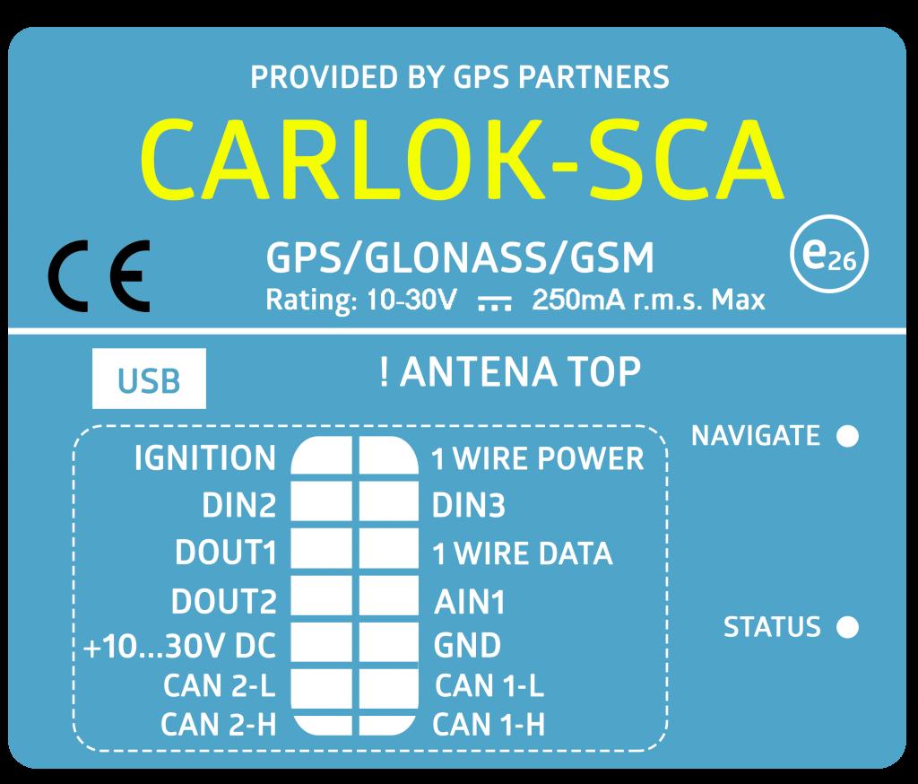 CARLOK S+C+A Lokalizator pojazdów GPS
